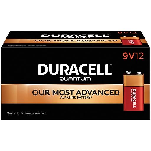 Duracell Quantum 9V Alkaline Batteries, 12/Pack