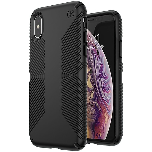 finest selection 74e15 8bac1 Speck Presidio Grip Case For iPhone X,iPhone Xs, Black