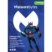 Malwarebytes Premium Anti-Malware for Multiple Devices, 3-Devices