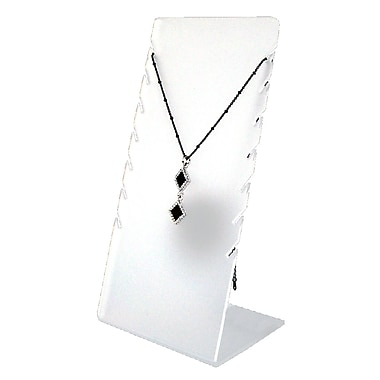 7 Chain Frosted Acrylic Necklace Display, White