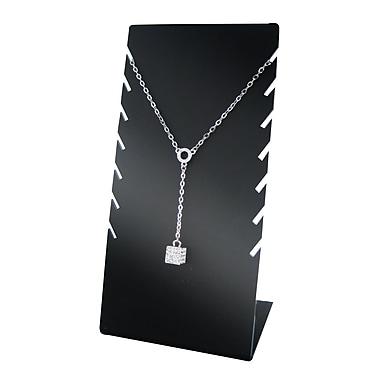 7 Chain Gloss Acrylic Necklace Display, Black
