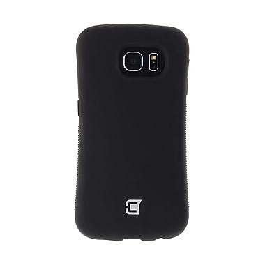 Caseco – Étui Shock Express hybride, 2 couches, protection de calibre militaire, prise texturée, pour Galaxy S6, noir