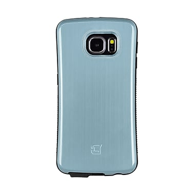 Caseco Dual Layer Hybrid Military Graded Shock Express Case with Studded Grip for Galaxy S6, Metallic Aqua