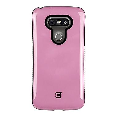 Caseco Dual Layer Hybrid Military Graded Shock Express Case with Studded Grip for LG G5, Pink