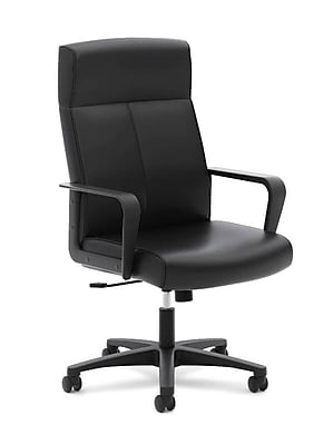 basyx by HON Leather Executive Chair, Black (HVL604.SB11)