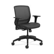 HON Quotient Mesh Back Fabric Computer and Desk Chair, Black (HQTMM.Y1.A.H.IM.CU10.SB)