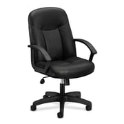 basyx by HON Leather Executive Chair, Black (HVL601.SB11)