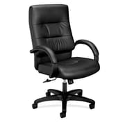basyx by HON Leather Executive Chair, Black (HVL691.SB11)