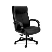 basyx by HON Leather Executive Chair, Black (BSXVL685SB11)