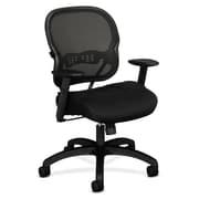 basyx by HON Sandwich Mesh Task Chair, Black (HVL712MM10)