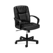 basyx by HON Leather Executive Chair, Black (BSXVL171SB11)
