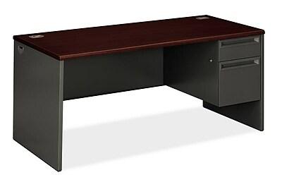 HON 38000 Series Right Pedestal Desk, 1 Box/1 File, 66