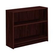 "HON 1870 Series Bookcase, 2 Shelves, 36""W, Mahogany Finish (HON1871N) NEXT2018 NEXT2Day"