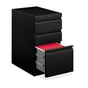 """HON Brigade Mobile Pedestal, 2 Box/1 File Drawer, Radius Pull, 15""""W, Black Finish,"""