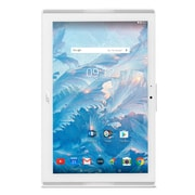 """Acer Iconia One Refurbished 10.1"""" Tablet, 1.3 GHz MediaTek MT8167, 16 GB Flash, 2 GB RAM, Android 7.0, White, English"""