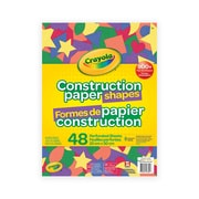 Crayola Construction Paper Shapes, 48/Pack