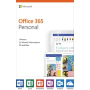 Microsoft Office 365 Personal, 1-Year, English