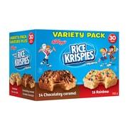 Kellog's – Carrés aux Rice Krispies, Caramel chocolaté/Arc-en-ciel, paq./30