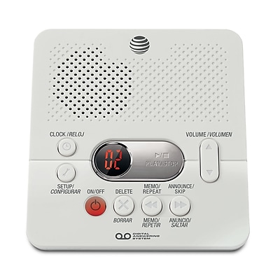 AT&T Answering System, 40-Minute Recording, CID Announce, White