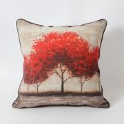 Red Leaves Tree Cushion (7161-CM2885-00)