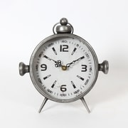 Gunmetal Round Table Clock (7890-CM1157-CK)
