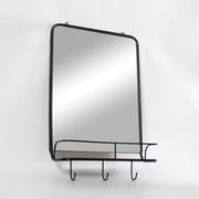 Salvador Metal Wall Mirror With Tray And Hooks (9876-BM3154-MR)
