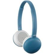 JVC HAS20BTA Flats Wireless Bluetooth On-Ear Headphone with Mic - Rem Blue