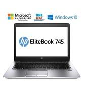HP - Portatif 745 G2 ELITEBOOK remis à neuf, 14 po, AMD A6 7050B, 2,2 GHz, SSD 128 Go, DDR3 4 Go, Windows 10 Famille