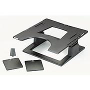 """3M™ Adjustable Laptop Stand, 3"""" Height Adjustment, Large Platform for Docking, Non-Skid Base, Cable Management (LX500)"""