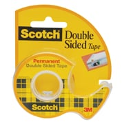 """Scotch® Double Sided Tape with Dispenser, Narrow Width, Engineered for Holding, 1/2"""" x 6.94 yds. (136)"""