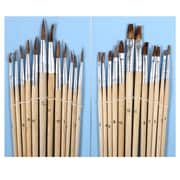 """CTG Brands Artist Paint Brushes, 11.25"""", Brown, 144/Pack"""