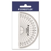 "Staedtler Protractor, Tinted Plastic 4"", 100mm, 180 degrees with Beveled Edges"