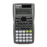 Staples - Calculatrice scientifique DS82MS, alimentation double, 224 fonctions, affichage à 2 lignes