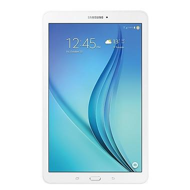 Samsung - Galaxy Tab E 9,6 po, 1,2 GHz 4 coeurs, Android 5.0, Lollipop, stockage 16 Go, Wi-Fi, bilingue, blanc (SM-T560NZWUXAC)