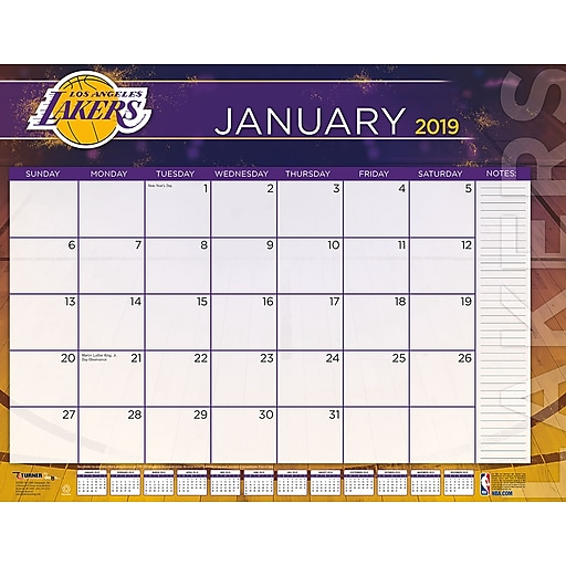 Lakers Calendar 2019 2019 Turner 22