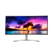 LG – Moniteur IPS ACL à DEL courbe 38WK95C-W anti-reflets 38 po avec technologie AMD FreeSync, 3840 x 1600, 1000:1, 75Hz, 5ms