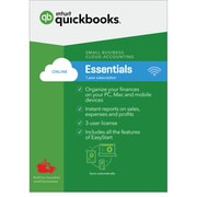 Intuit QuickBooks Online Essentials, Monthly Subscription, English