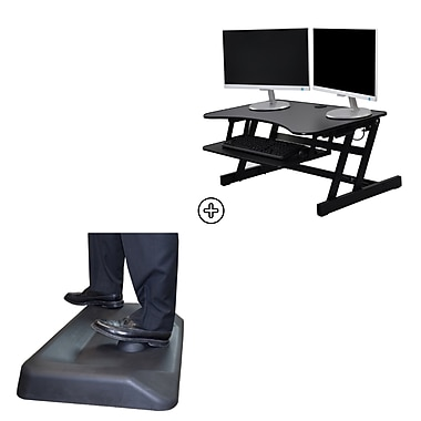 Rocelco Easy Lift Adjustable Height Sit Stand Desk Riser