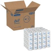Scott Essential 100% Recycled Fiber Standard Roll Bathroom Tissue, 2-Ply, White, 80 Rolls/Case
