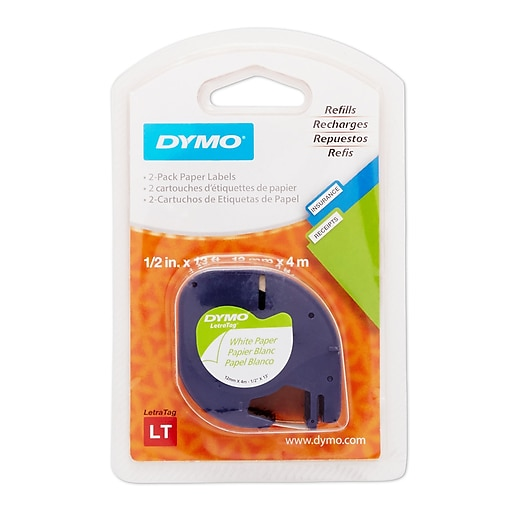 Dymo LetraTag 10697 Label Maker Tapes, 0 5
