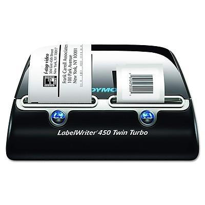 photo about Dymo Printable Postage called Dymo LabelWriter 450 Dual Turbo Desktop Label Printer (1752266)