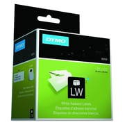 "DYMO LabelWriter Address 30252 Label Printer Labels, 1-1/8""W, Black On White, 700/Box"