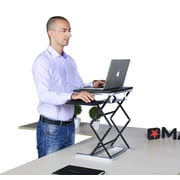 Uncaged Ergonomics Laptop Standing Desk Converter, Extra Tall with Mousepad, Black