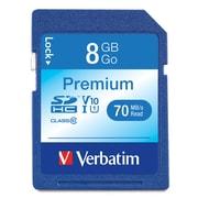 Verbatim Premium 96318 8GB SDHC Flash Memory Card (VTM96318)