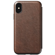 Nomad Rugged Leather Folio Case For Use With iPhone XS Rustic Brown