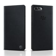 BlackBerry Leather Flip Case For Use With KEY2 LE, Black