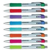 Universal™ Comfort Grip® Retractable Gel Ink Roller Ball Pen, 0.7 mm, Assorted, 1/Set (39725)