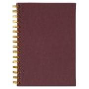 Merangue A5 Coiled PU Notebook, 100 Sheets, Burgundy