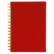 Merangue A5 Coiled PU Notebook, Ruled, 100 Sheets, Red