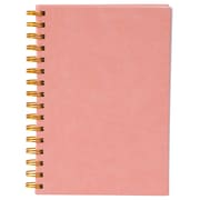 Merangue A5 Coiled PU Notebook, Ruled, 100 Sheets, Pink